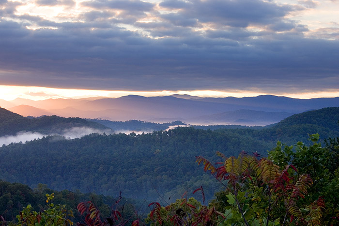 Sunrise at Great Smoky Mountain National Park