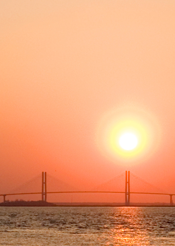 Jekyll Island Bridge at Sunset