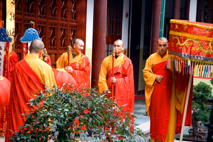 Jade Buddha Temple Monks - Shanghai