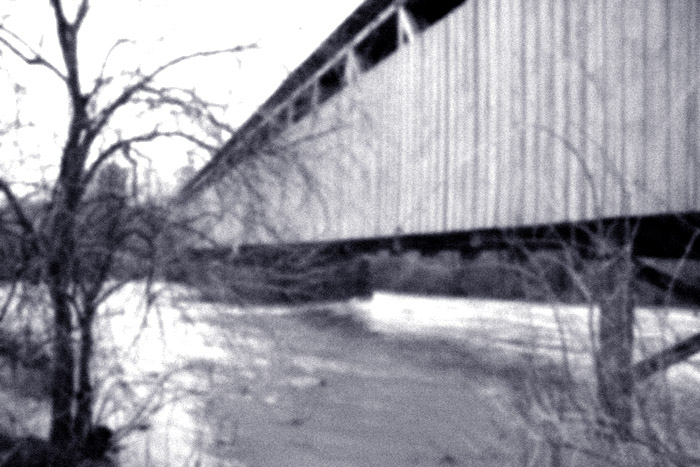 Historic Black Covered Bridge