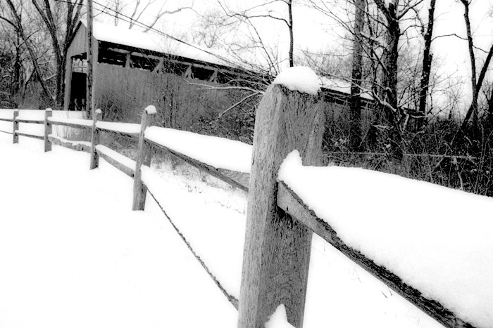 Historic Black Covered Bridge Part II