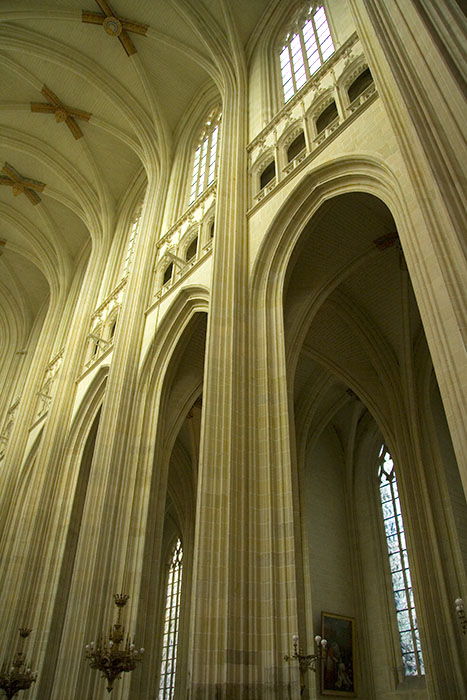 Inside the Nantes Cathedral