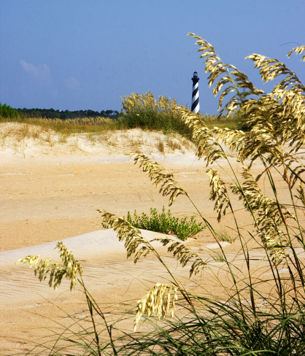 Hatteras Lighthouse form a Buxton Beach