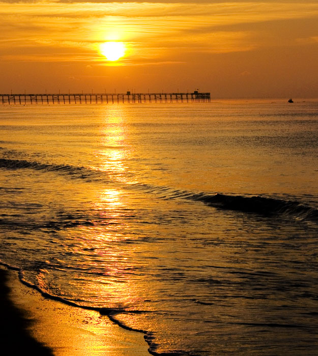Oak Island Pier at Sunrise II