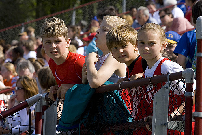 Track Meet Cheering Section
