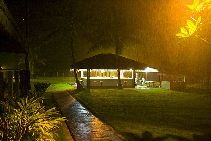 Sunset Bar in the rain, Chuuk Micronesia
