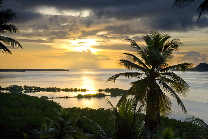 Sunset at the Village Inn, Pohnpei, Micronesia
