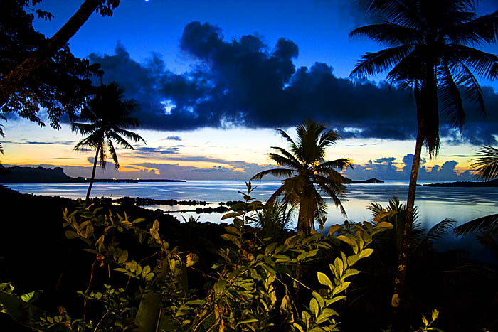 After Sunset at the Village Inn, Pohnpei, Micronesia