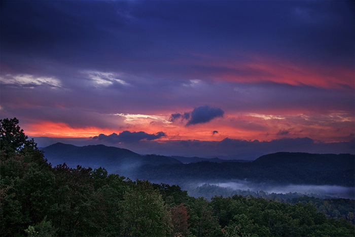 Foothills Parkway, near Great Smoky Mountains National Park