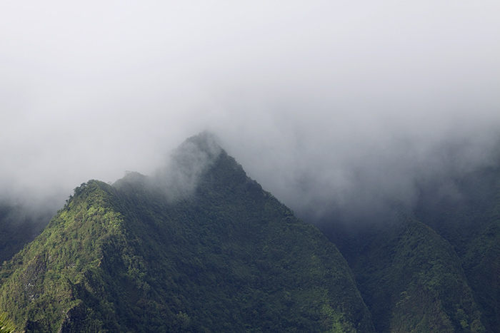 Misty Hawaii Mountains.