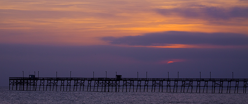 Oak Island Pier at Sunset