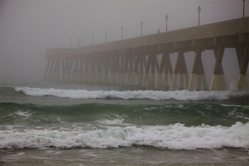 Wrightsville Beach Pier in the Fog