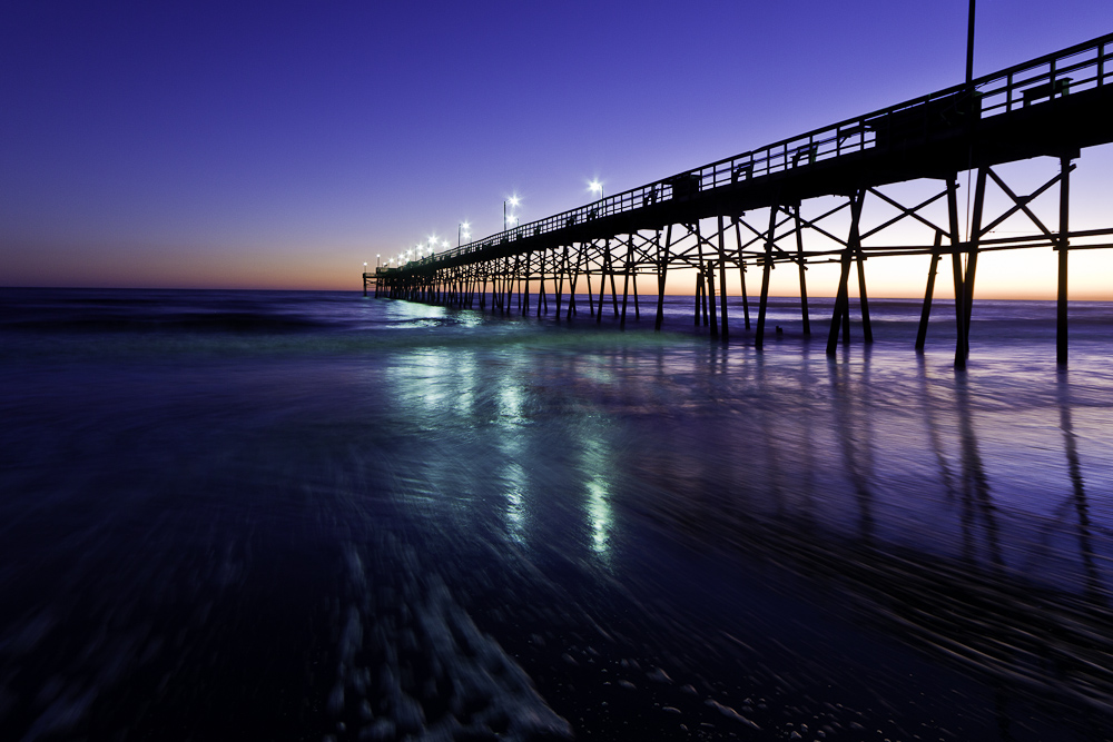 Oak Island Pier at Sunset II
