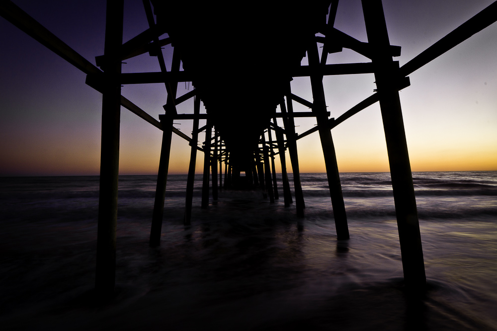 Oak Island Pier at Sunset III