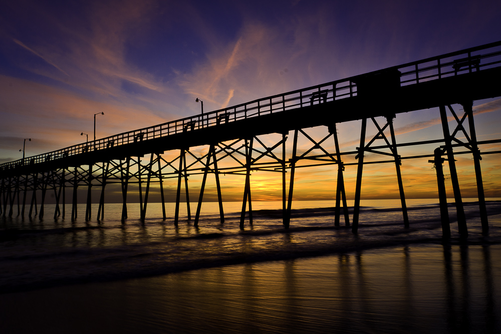 Oak Island Pier at Sunset IV