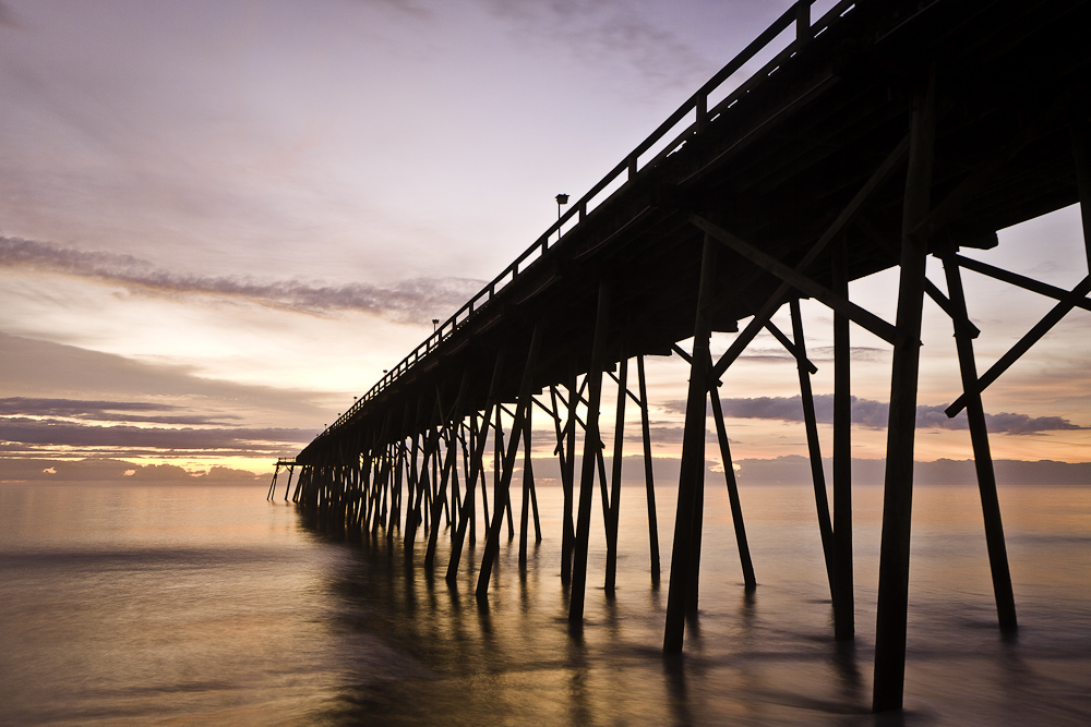 Kure Beach Pier at Sunrise