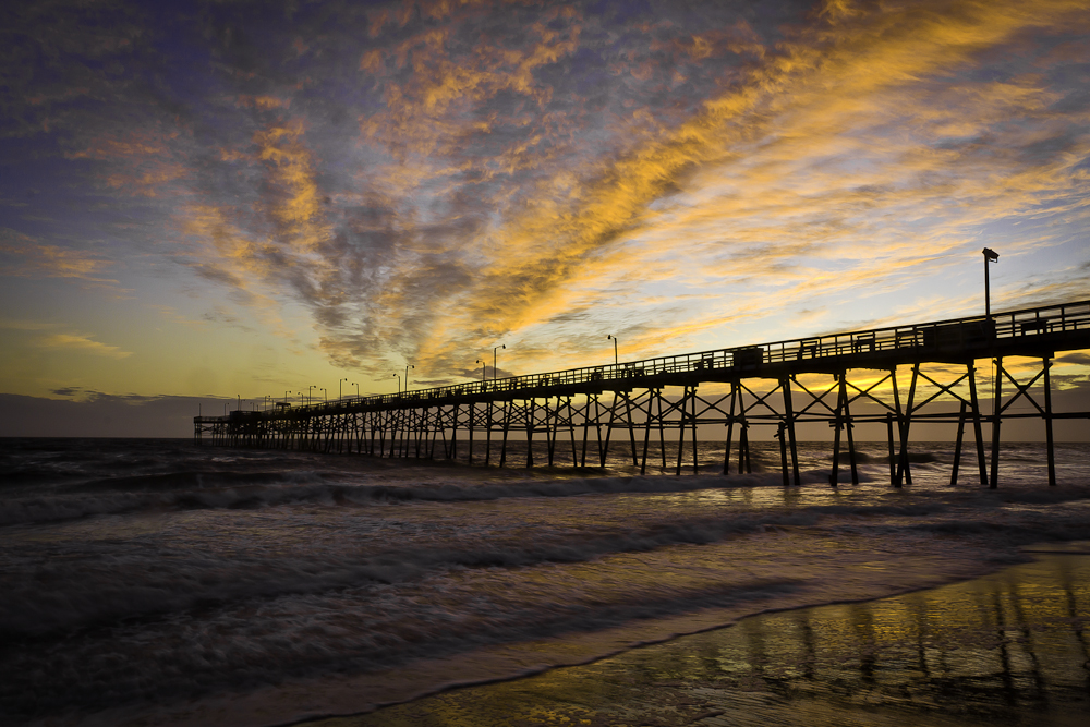 Oak Island Pier at Sunset!