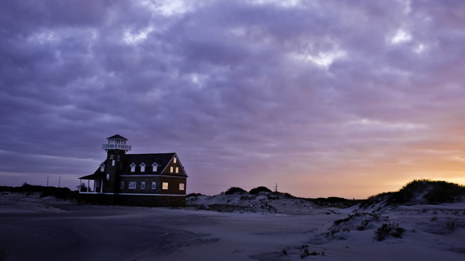 Old Oregon Inlet Coast Guard Station on the NC Outer Banks