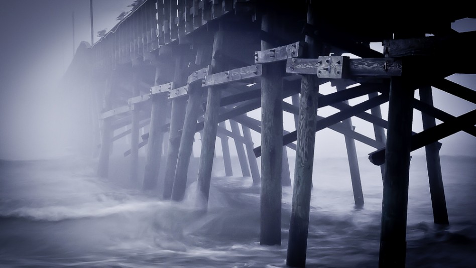 Ocean Crest Pier (Oak Island, NC)in the Early morning fog