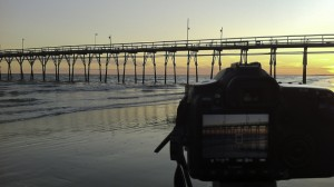 Shooing at the Sunset Beach Pier