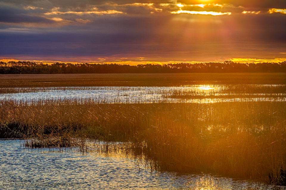 Oak Island Marsh Sunrise