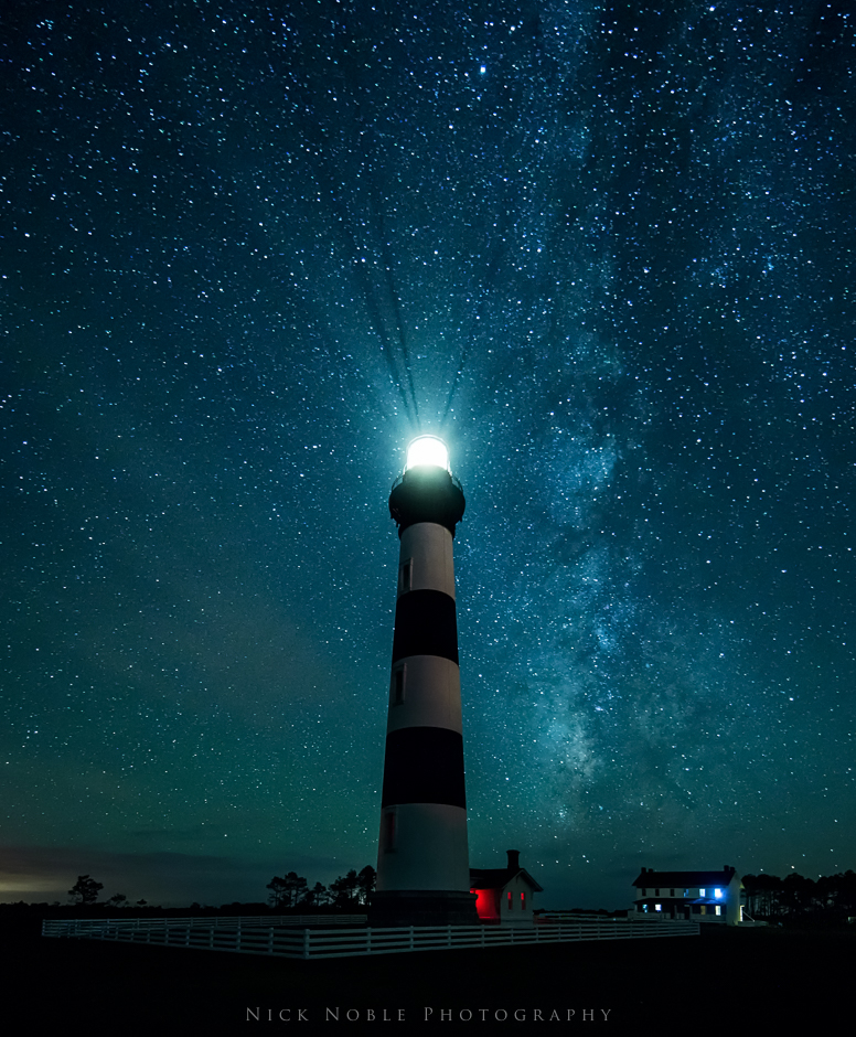 Bodie Lighthouse under the Stars